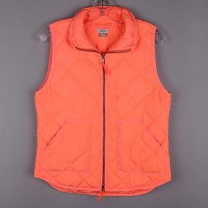 J. Crew | Neon Orange Quilted Vest